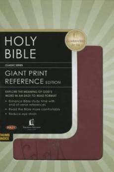 NKJV, End-of-Verse Reference Bible, Giant Print (11pt), Personal Size,  Maroon, Full Color, Indexed
