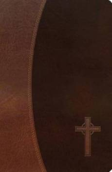 NKJV, Gift Bible, Imitation Leather, Brown, Red Letter Edition