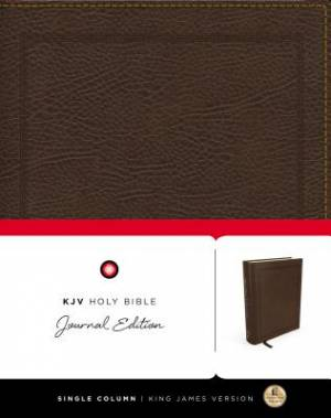 KJV, Holy Bible, Journal Edition, Bonded Leather, Brown, Red Letter Edition