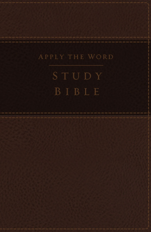 Nkjv, Apply the Word Study Bible, Large Print, Imitation Leather, Brown, Indexed, Red Letter Edition