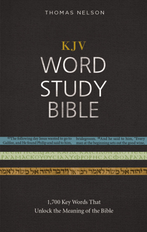 KJV, Word Study Bible, Hardcover, Red Letter Edition