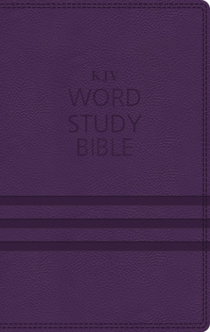 KJV, Word Study Bible, Imitation Leather, Purple, Indexed, Red Letter Edition