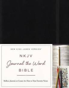 NKJV, Journal the Word Bible, Hardcover, Black, Red Letter edition