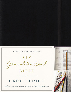 KJV, Journal the Word Bible, Large Print, Hardcover, Black, Red Letter Edition