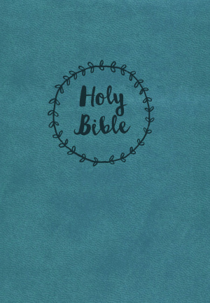Nkjv, Reference Bible, Compact, Large Print, Imitation Leather, Blue, Red Letter Edition
