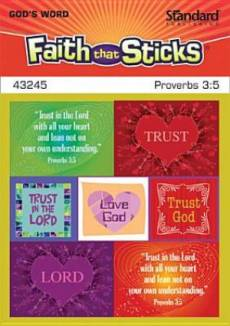 Proverbs 3 5 Stickers