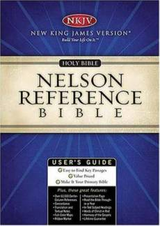 NKJV Reference Bibles: Black, Bonded Leather
