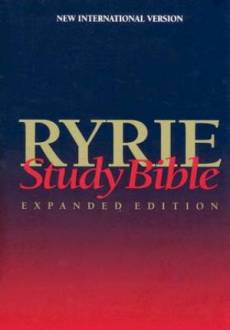 NIV Ryrie Study Bible Hardback- Red Letter Indexed
