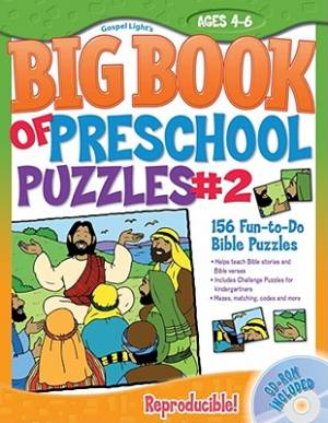 Big Book Of Preschool Puzzles #2 Pb Cdro