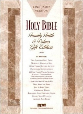 KJV Family Faith And Values Bible Imitation Leather White