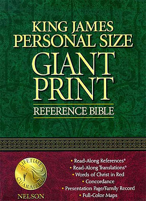 KJV Personal Size Giant Print Bible: Navy Blue,  Bonded Leather