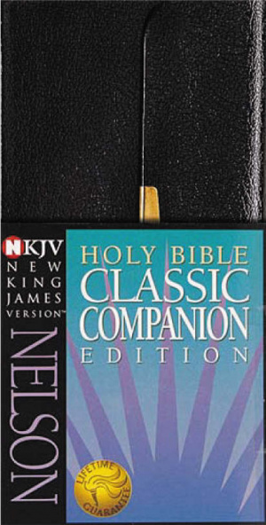 NKJV Slimline Bible: Black, Bonded Leather, Classic Companion