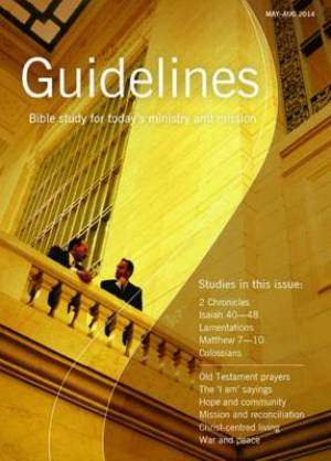 Guidelines May - August 2014