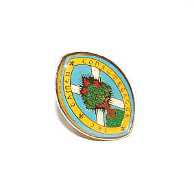 M004 Lapel Badge Burning Bush Pin