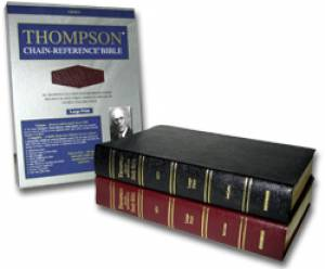 KJV Thompson Chain Reference Large Print Bible Burgundy Bonded Leather