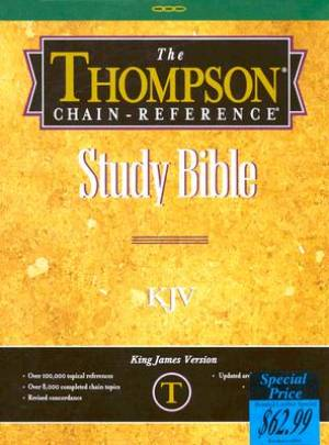KJV Thompson Chain Reference Study Bible: Blue, Bonded Leather, Thumb Indexed