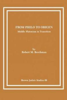 From Philo to Origen