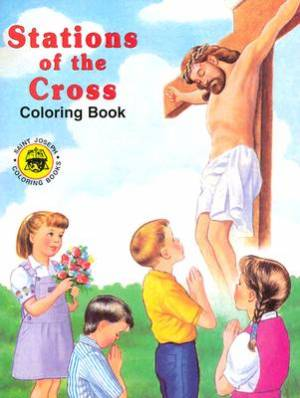 Stations Of The Cross Coloring Book - Pack of 10
