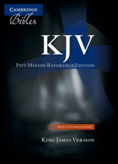 KJV Pitt Minion Reference Edition Brown Goatskin