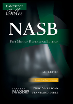 NASB Pitt Minion Reference Bible, Black Calfsplit Leather, Red Letter Text
