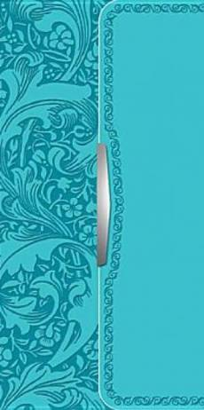 NKJV Checkbook Bible Turquoise Imitation Leather