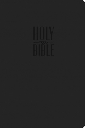 KJV Compact Larger Print Reference Bible Imitation Leather Black