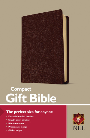 NLT Compact Bible: Burgundy, Imitation Leather