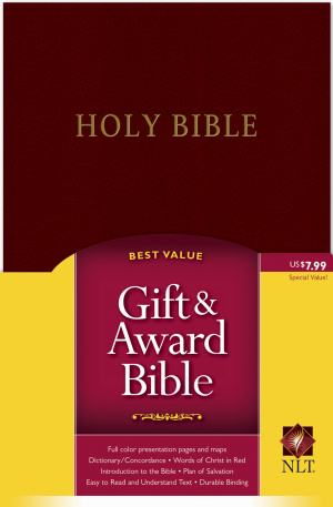 NLT Gift & Award Bible: Burgundy