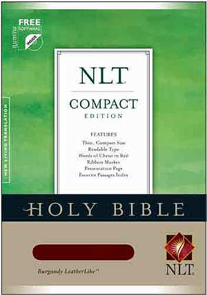NLT Compact Bible: Burgundy, LeatherLike