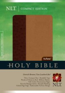 NLT Compact Bible: Brown/ Tan TuTone, Imitation Leather