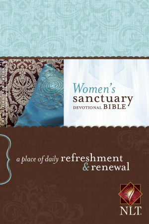 NLT Womens Sanctuary Devotional Bible: Hardback