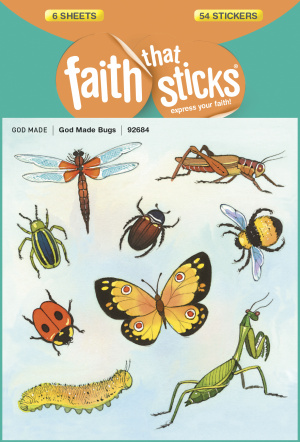 God Made Bugs Stickers