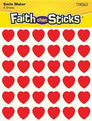 Miniature Red Heart Stickers