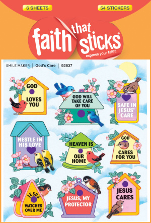 Gods Care Stickers