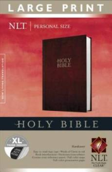 NLT Red Large Print Personal Sized Thumb Index Bible