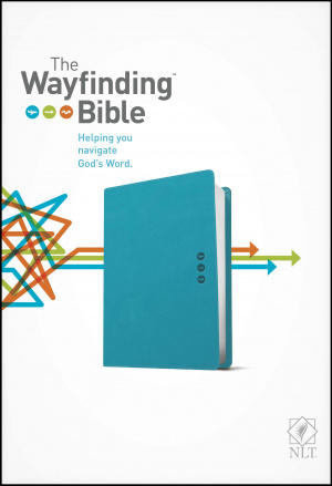 NLT Wayfinding Bible, Teal, Leatherlike