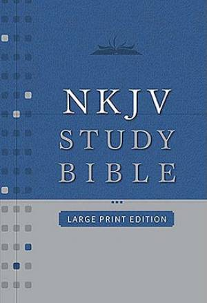 NKJV Study Bible: Burgundy, Bonded Leather, Large Print