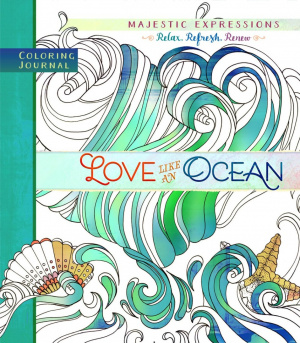 Adult Coloring Journal: Love Like an Ocean