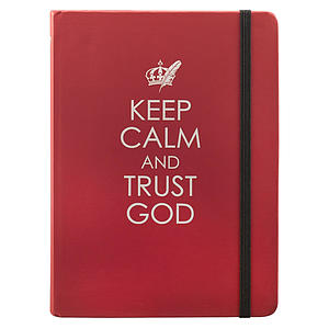 Keep Calm and Trust God Journal- Red Hardcover