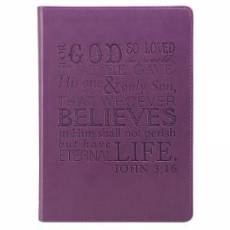 Journal John 3:16 Purple Imitation Leather