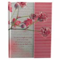 """""""The Lord is my Strength and my Shield"""" Hardcover Flap Journal"""