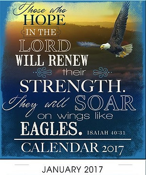 Eagles' Wings Mini Magnetic Calendar 2017