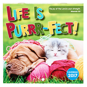 Life is Purrrfect Small Calendar 2017