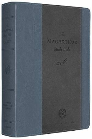 The ESV MacArthur Study Bible: Blue/Charcoal, TruTone