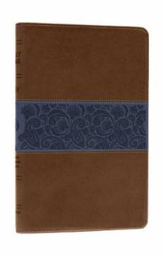 ESV Thinline Bible: Chocolate & Blue, Paisley Design, Trutone