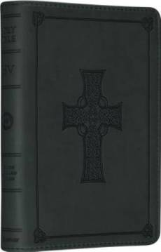 ESV Large Print Compact Bible: Olive Celtic Cross, TruTone Cover