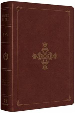 ESV Single Column Heritage Bible Imitation Leather Brown