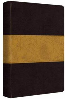 ESV Large Print Bible TruTone Coffee/Goldenrod