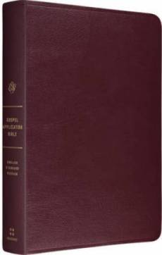 Esv Gospel Transformation Genuine Leather Burgundy