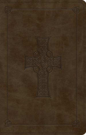 ESV Premium Gift Bible (TruTone, Olive, Celtic Cross Design)